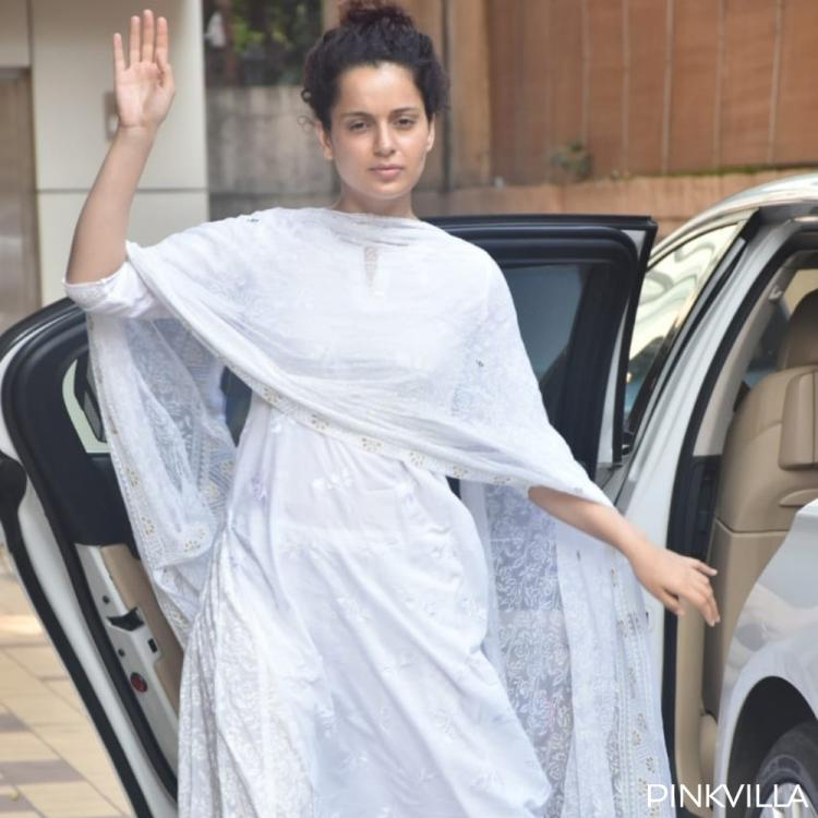 PHOTOS: Kangana Ranaut goes deglam and opts for an all white outfit as she steps out for her dance classes