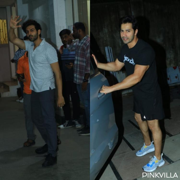PHOTOS: Kartik Aaryan steps out of a dubbing studio; Varun Dhawan spotted outside his gym