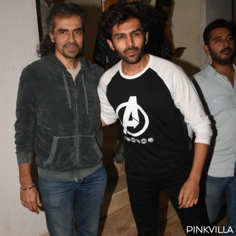 PHOTOS: Kartik Aaryan spotted with Aaj Kal director Imtiaz Ali as they step out of a dubbing studio