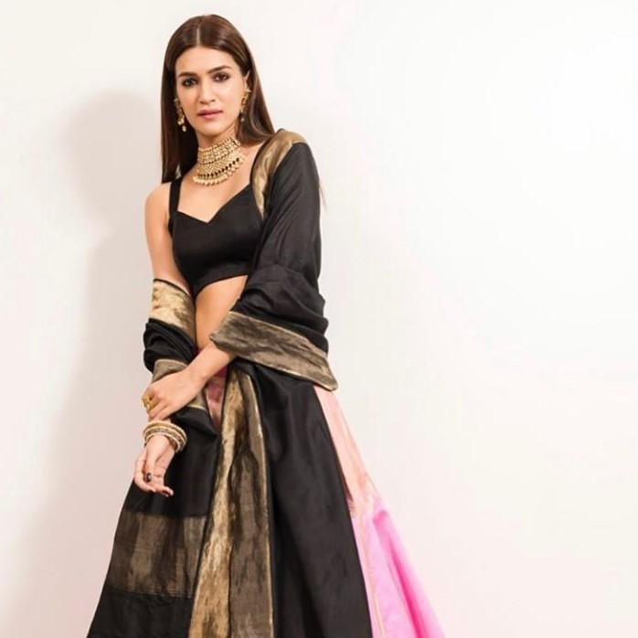 Kriti Sanon shows us brocade is not meant for sarees; Sports a Raw Mango lehenga perfect for your next sangeet