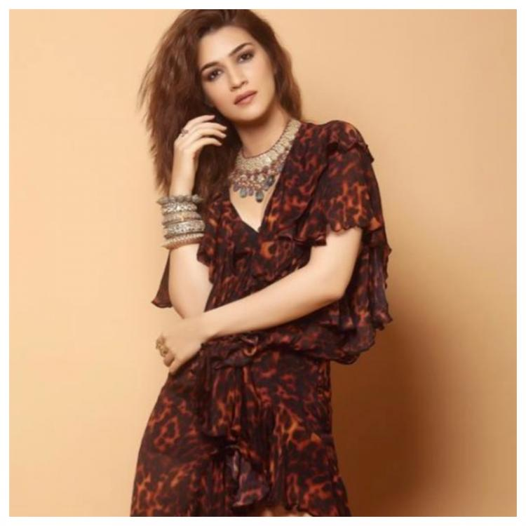Kriti Sanon styled her animal print dress with heavily embellished jewellery; Yay or Nay?