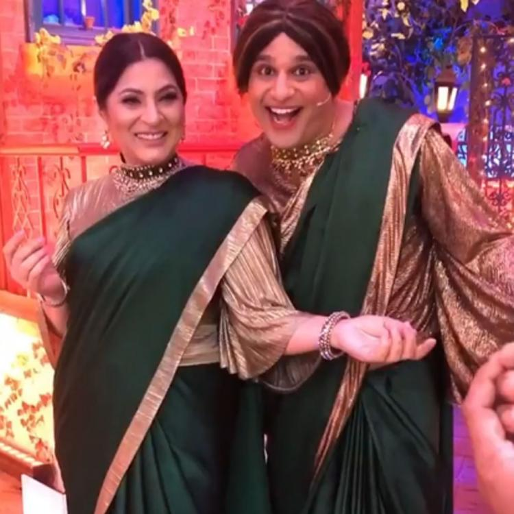 The Kapil Sharma Show: Krushna Abhishek twins with Archana Puran Singh in sari; Thanks her for the support