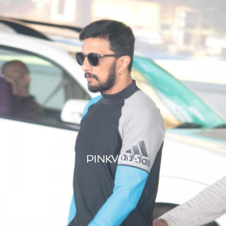 PHOTOS: Kiccha Sudeep looks dapper in casuals as he gets spotted at the airport