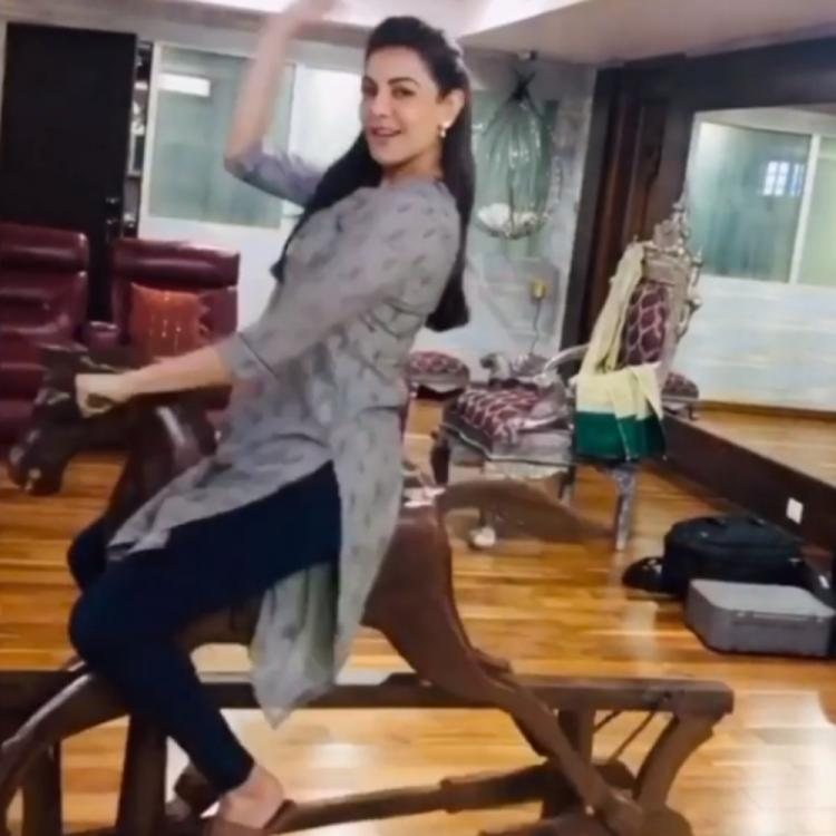 Kajal Aggarwal channels her inner child as she rides a rocking horse; WATCH Video