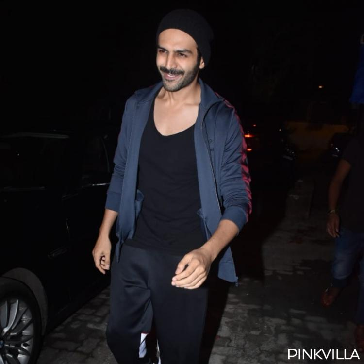 PHOTOS: Kartik Aaryan is all smiles as he steps out of a dubbing studio in the city