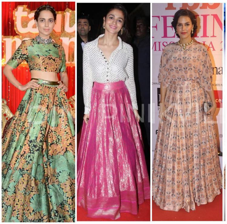 4 Bollywood Actresses Show You How To Style Your Lehenga Skirt Part 1 Pinkvilla