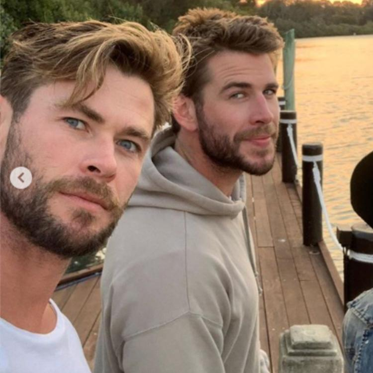 Chris Hemsworth shared some photos with Liam Hemsworth and wife Elsa Pataky from their trip to Makepeace Island, Australia.