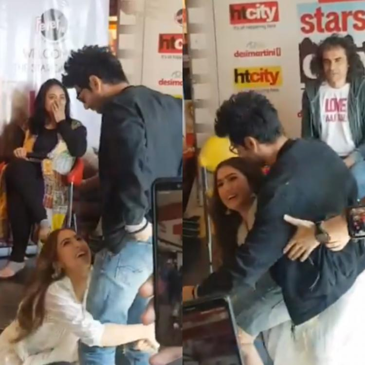 Love Aaj Kal: Sara Ali Khan lifts up Kartik Aaryan in her arms at the promotions; Watch Video