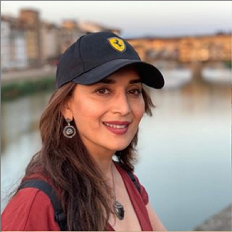 Madhuri Dixit looks resplendent as she spends a pleasant evening in Florence; Check it out