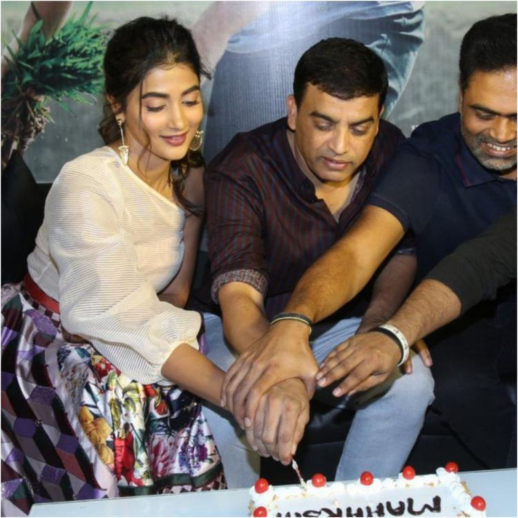 Maharshi: Mahesh Babu, Pooja Hegde's team celebrate the film's success with 'epic blocbuster' cake; see pics