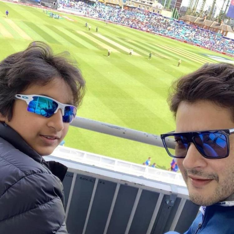 World Cup 2019: Mahesh Babu shares a selfie with son as they attend India Vs Australia match; View pic