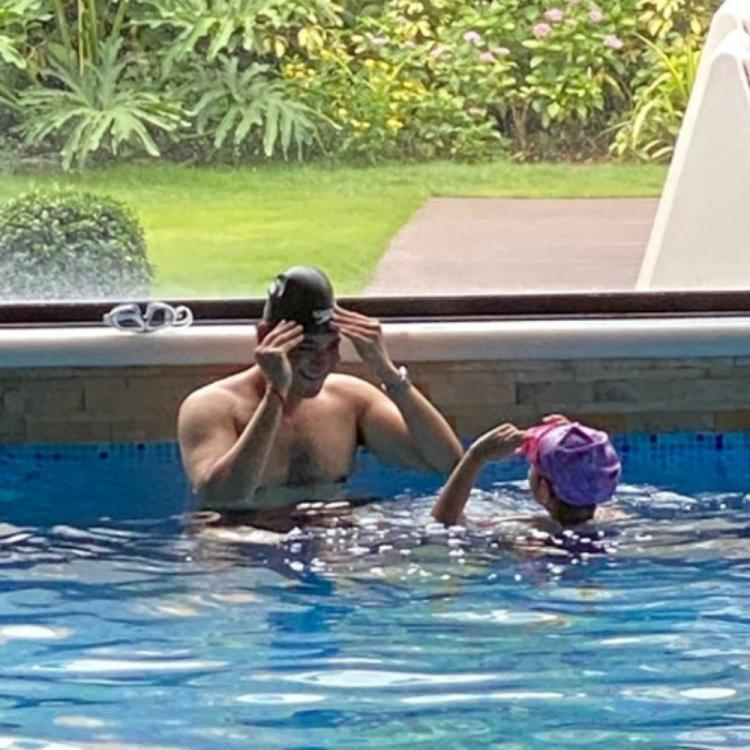PHOTO: Mahesh Babu and daughter Sitara turn water babies as they chill at the pool together