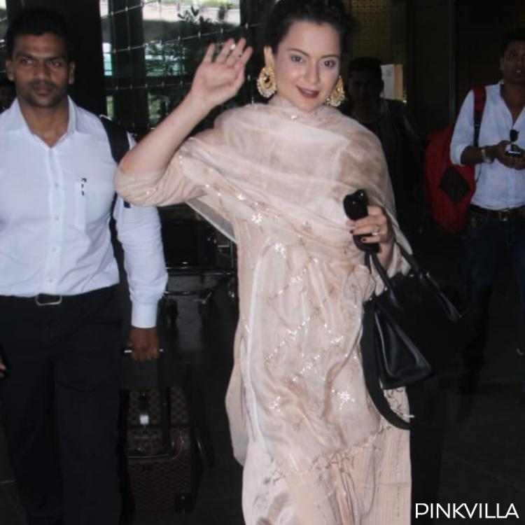 Kangana Ranaut's latest airport look proves she's the ultimate Queen of ethnic attire; View pics