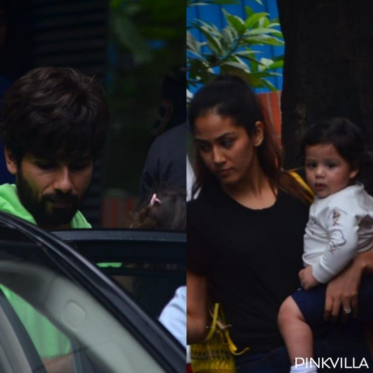 PHOTOS: Shahid Kapoor and Mira Rajput head out with their munchkins Misha and Zain