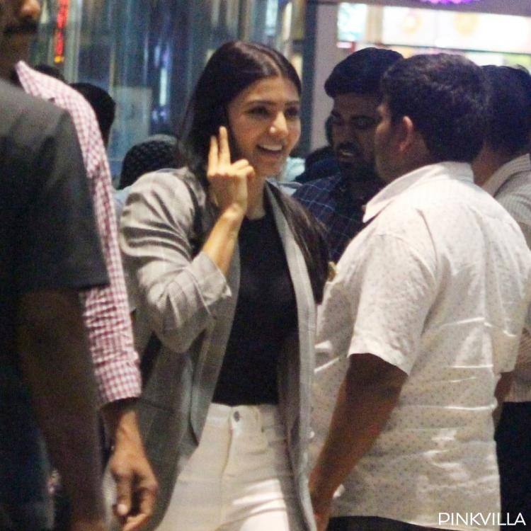 Samantha Akkineni goes casual as she gets papped at the Hyderabad airport; View Pics