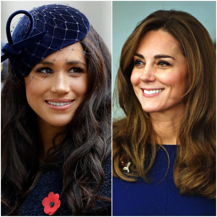 Meghan Markle and Kate Middleton make navy blue the colour of the day in two royal and chic ensembles