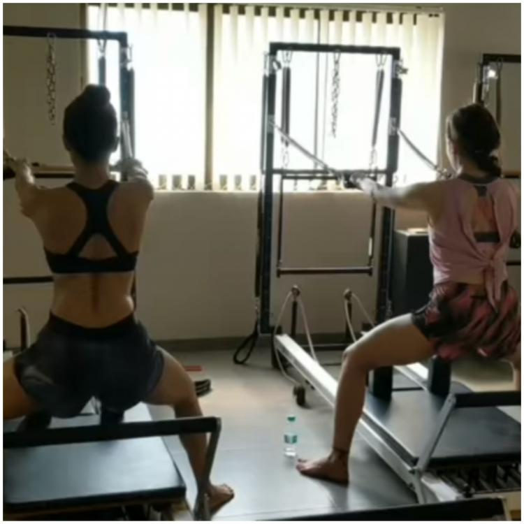 Watch: Malaika Arora & Sara Ali Khan are giving major workout goals in this video from their pilates session