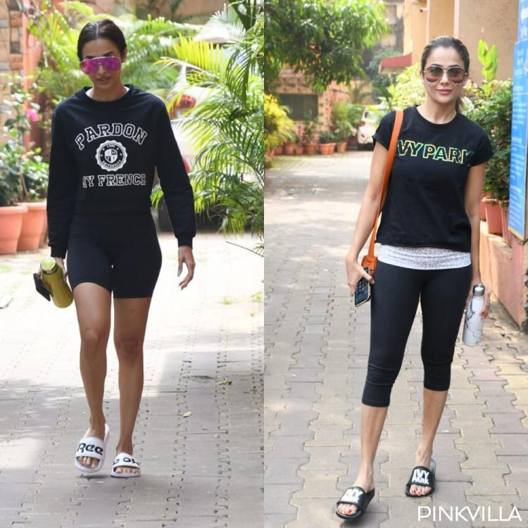 Malaika Arora and Amrita Arora nail their all black look for their yoga session; See Pics