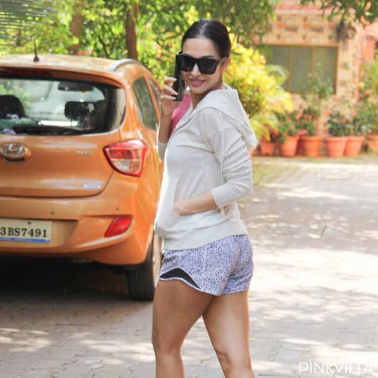 PHOTOS: Malaika Arora ditches her black attire and stuns in off white as she steps out for a workout session