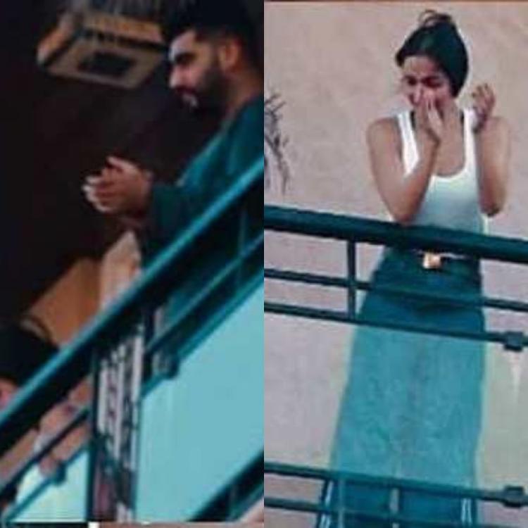 Arjun Kapoor and Malaika Arora stepped out together in their balcony to clap during Janta Curfew