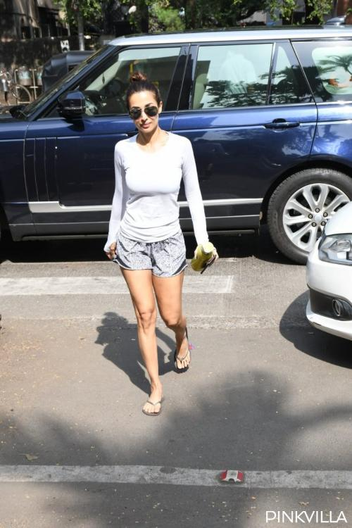 PHOTOS: Malaika Arora looks like a breath of fresh air in shorts and tee as she hits the gym