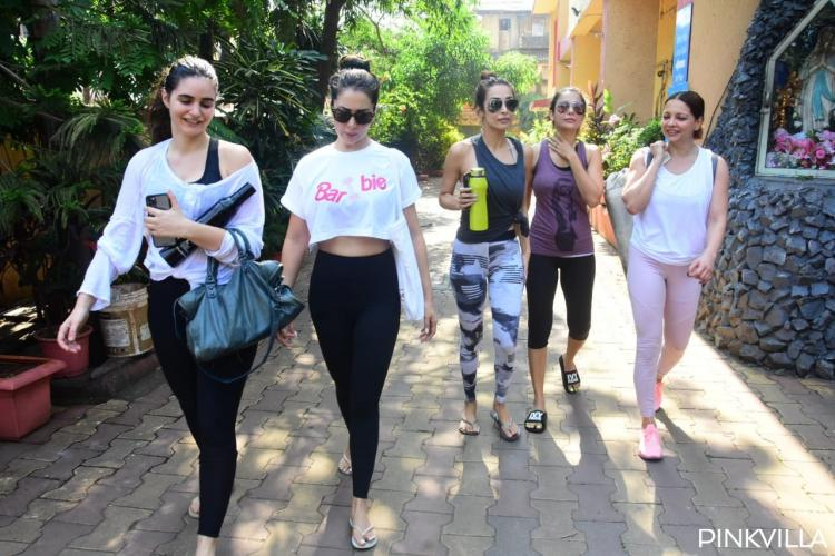 Malaika Arora looks uber chic as she steps out with her 'divas' post yoga sesh; View Pics