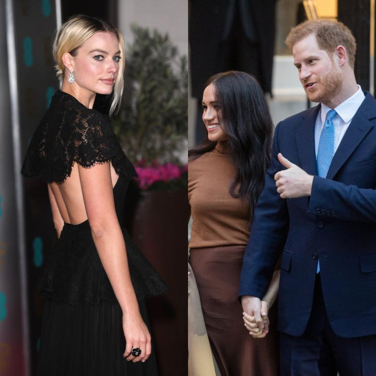 Margot Robbie extends a dinner invite to Prince Harry and Meghan Markle in Los Angeles, California.