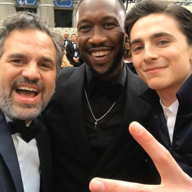 Mark Ruffalo, Mahershala Ali & Timothée's Oscar 2020 selfie has MCU fans cast Chalamet as young Loki