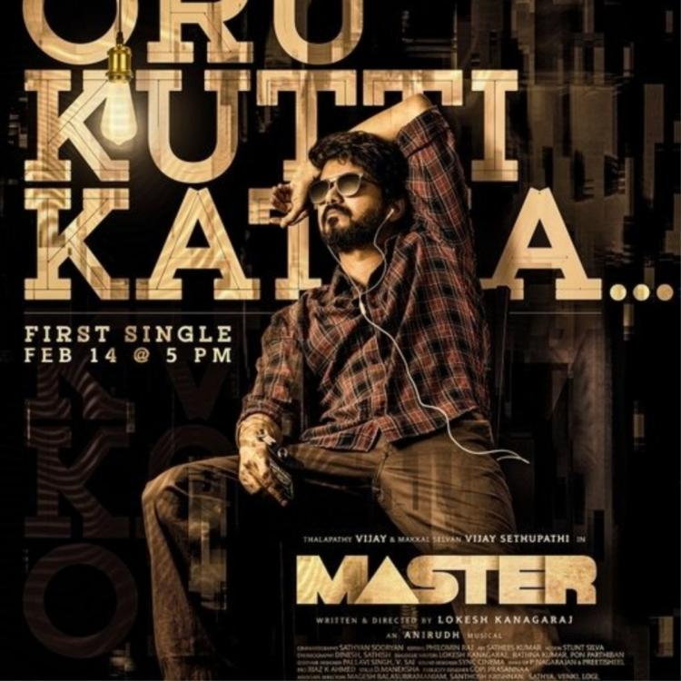 Thalapathy Vijay starrer Master's makers to release the film's first single track on THIS DATE; Check it out
