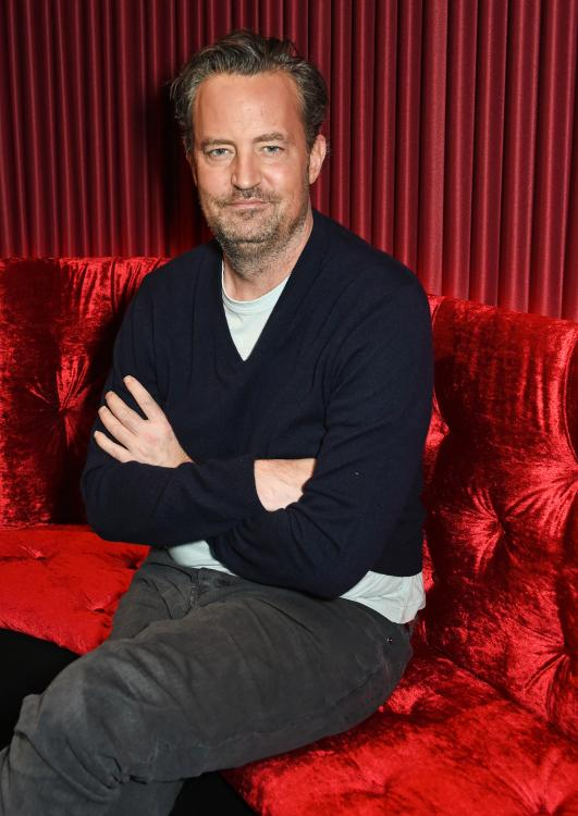 Matthew Perry seems excited yet nervous for his Instagram debut if his first IG post is anything to go by.