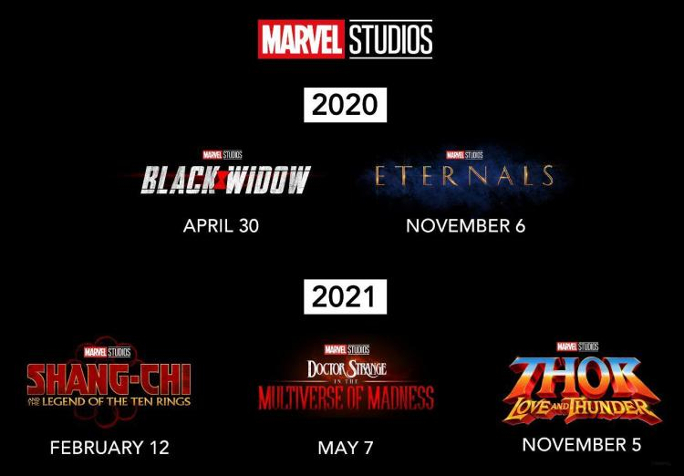 The first movie from the MCU (Marvel Cinematic Universe) Phase 4 is Black Widow, which is slated to release on April 30, 2020.