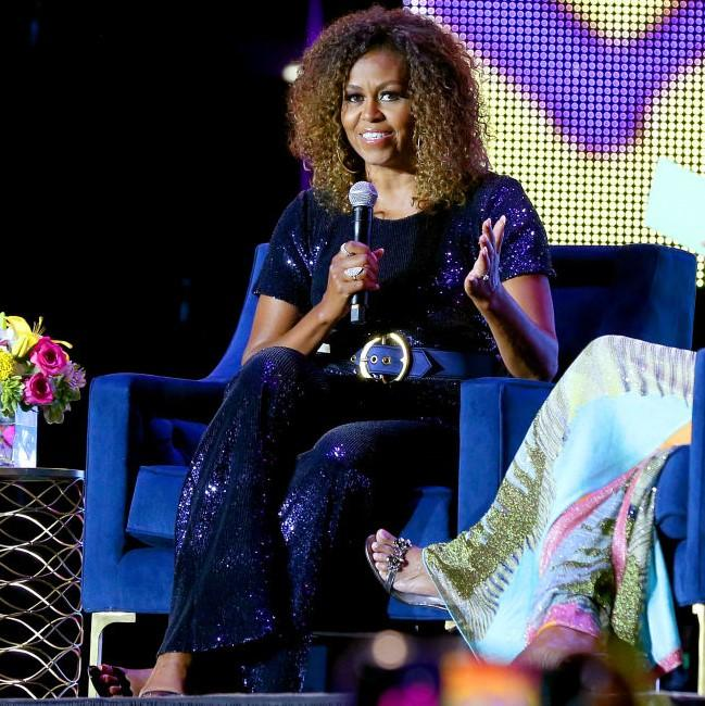 Celebrity Style,michelle obama,sequin jumpsuit,essence festival