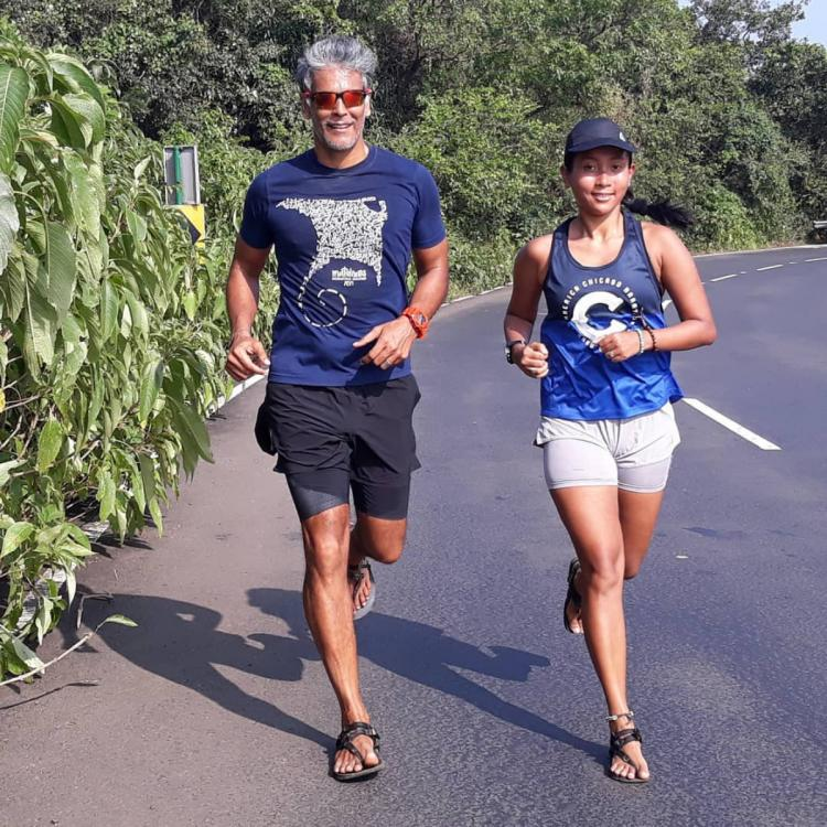 Photo: Milind Soman REVEALS how he stays motivated and it has a direct connect with his wife Ankita Konwar