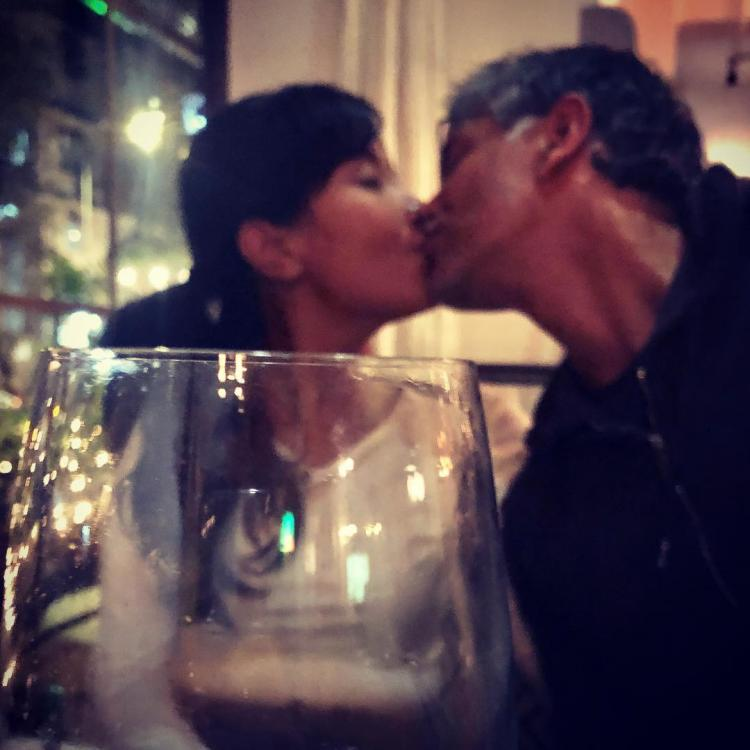 Milind Soman and wife Ankita Konwar make for a perfect Kiss Day picture