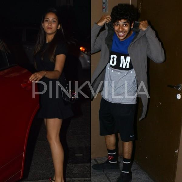 Mira Rajput and Ishaan Khatter snapped outside a movie