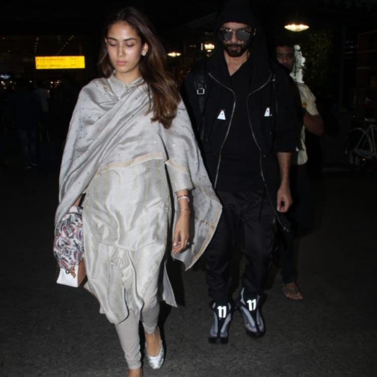 Shahid Kapoor & Mira Rajput make for a picture perfect couple as they make a stylish appearance at the airport