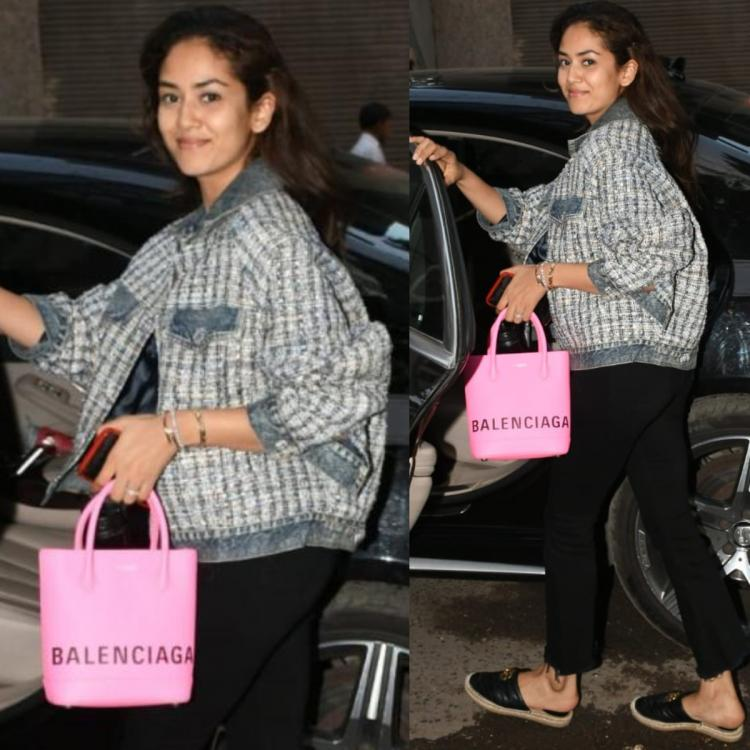 Mira Kapoor's statement pink Balenciaga bag and Gucci Espadrilles scream luxury fashion and cost a BOMB