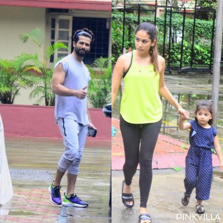 PHOTOS: Shahid Kapoor is all smiles post his workout; Mira Rajput & Misha take a stroll after her gym session