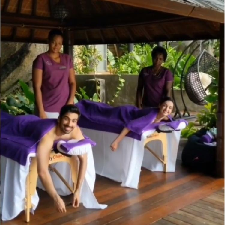 Sanaya Irani Mohit Sehgal Welcome The Weekend With A Spa Session
