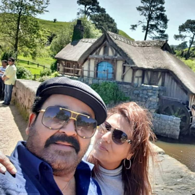 Lucifer star Mohanlal is all smiles as he enjoys a vacation in New Zealand