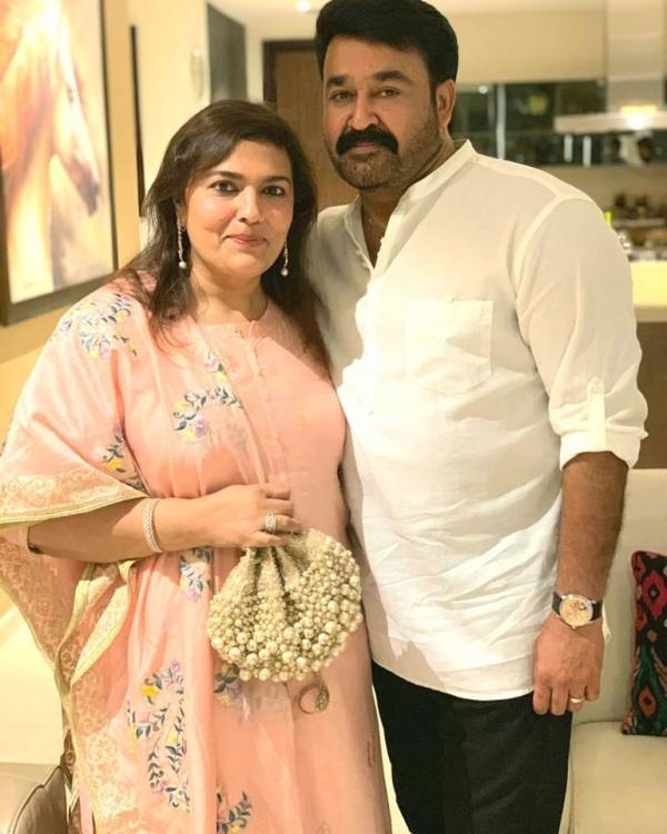 Mammootty, Mohanlal, Tovino Thomas, Dileep & other stars attend producer Santhosh's daughter's wedding