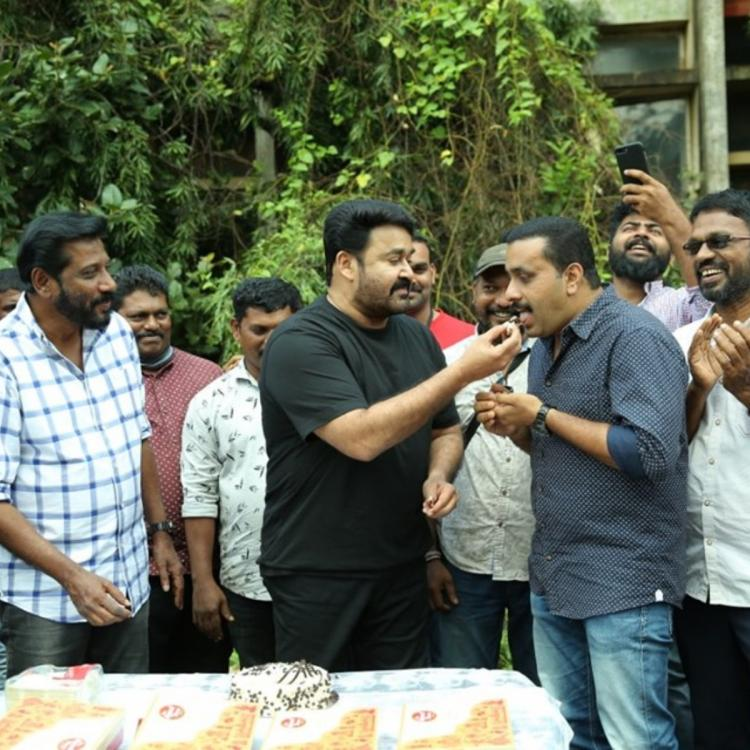 Mohanlal celebrates three years of the film Pulimurugan with his team; View Pics