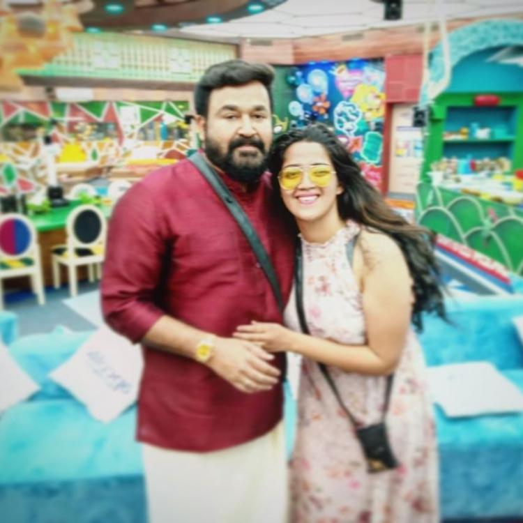 Bigg Boss Malayalam's Abhirami Suresh has a fangirl moment with the show's host Mohanlal; Check it out