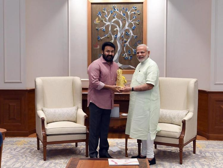 Mohanlal wishes PM Narendra Modi for a successful life on his 69th birthday; View Post