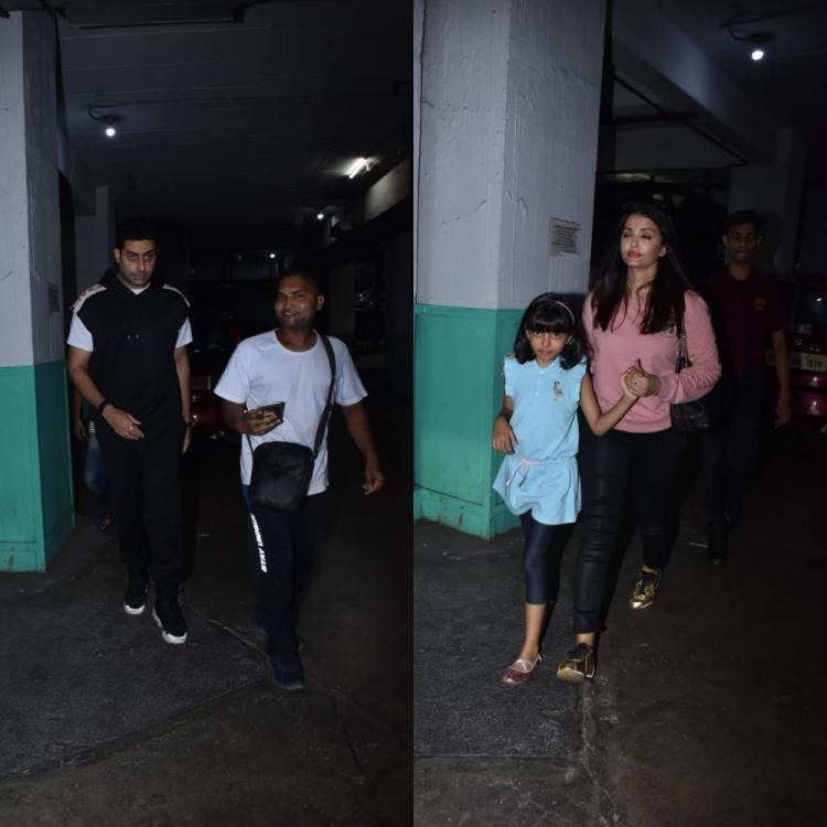 PHOTOS: Abhishek Bachchan & Aishwarya Rai enjoy weekend with daughter Aaradhya as they go out for a movie