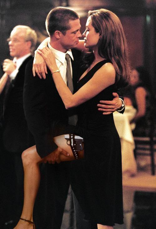 Brad Pitt and Angelina Jolie's real-life romance began on the sets of Mr. & Mrs. Smith.
