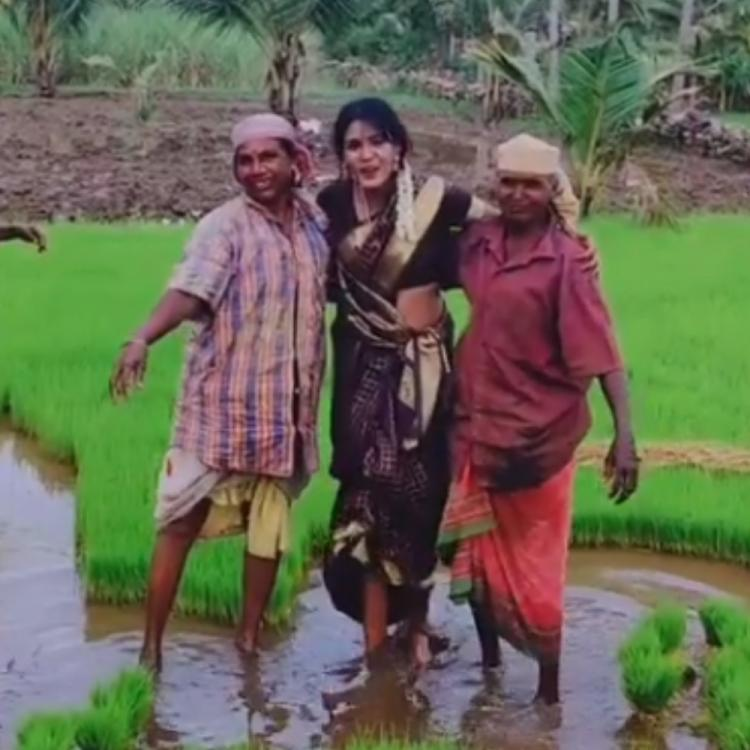 Bigg Boss Tamil 3's Meera Mithun is winning hearts as she spends time with female farmers; Watch Videos