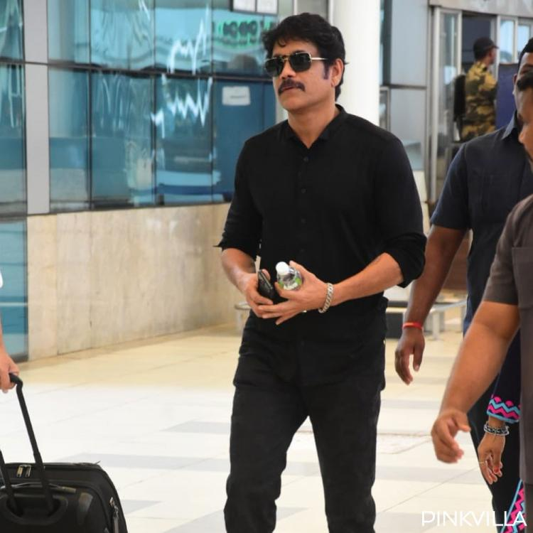 PHOTOS: Wild Dog Nagarjuna Akkineni looks dapper in his all black look as he gets papped at the airport