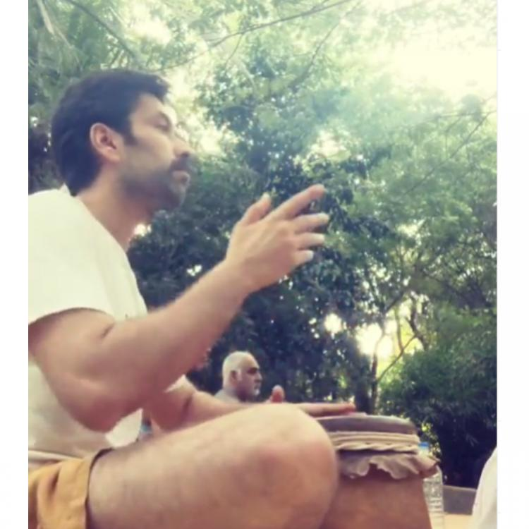 Nakuul Mehta tries his hands on the tabla and fans think he might as well join wife Jankee Parekh's band