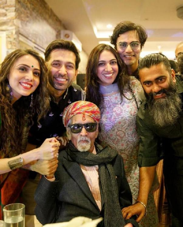 Nakuul Mehta and Jankee Parekh make their nanaji's birthday special for him; see photos